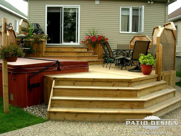 patio designs | patio avec spa réalisé par patio design inc ... - Spa Patio Designs