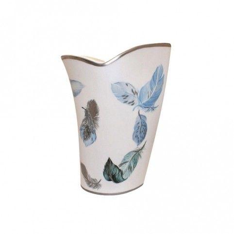 (19cm) Vase en porcelaine Laure Sélignac, Vase de décoration collection Vivaldi aux feuilles d'hiver...