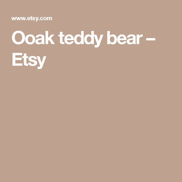 Ooak teddy bear – Etsy