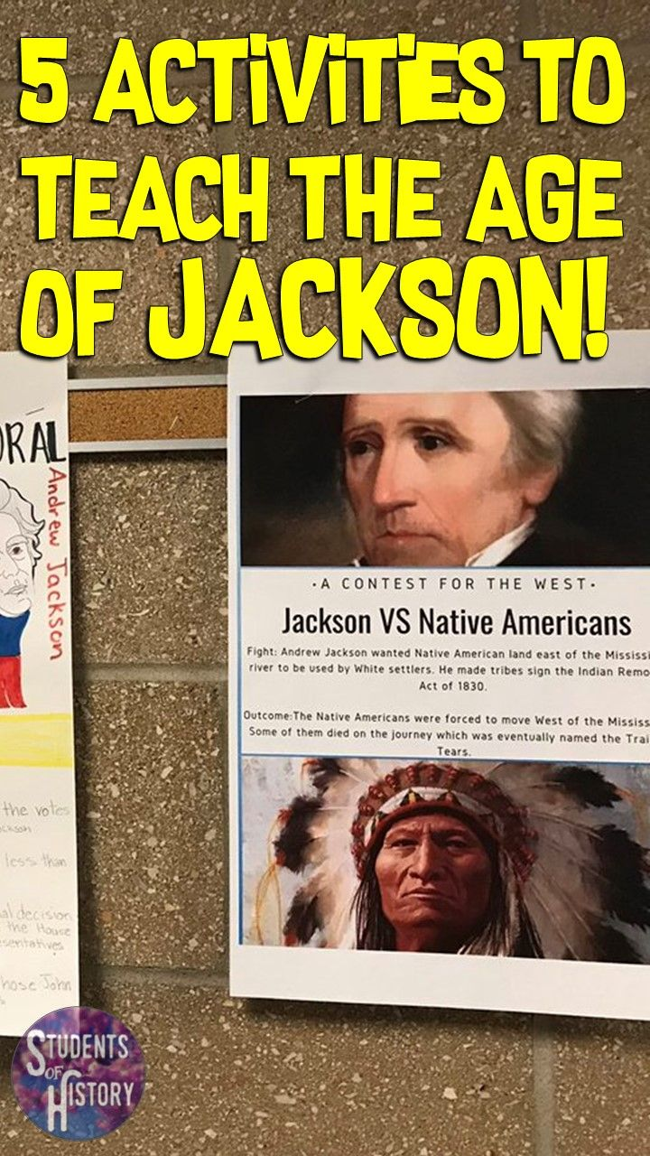 5 Ways to Teach About the Andrew Jackson Presidency   Teaching us history [ 1280 x 720 Pixel ]