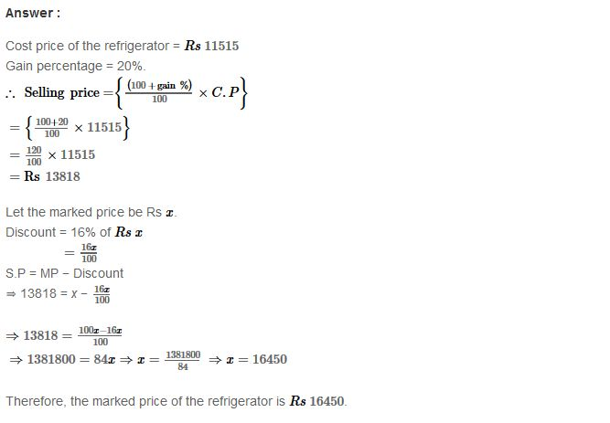 Percentage Rs Aggarwal Class  Maths Solutions Ex A Pdf