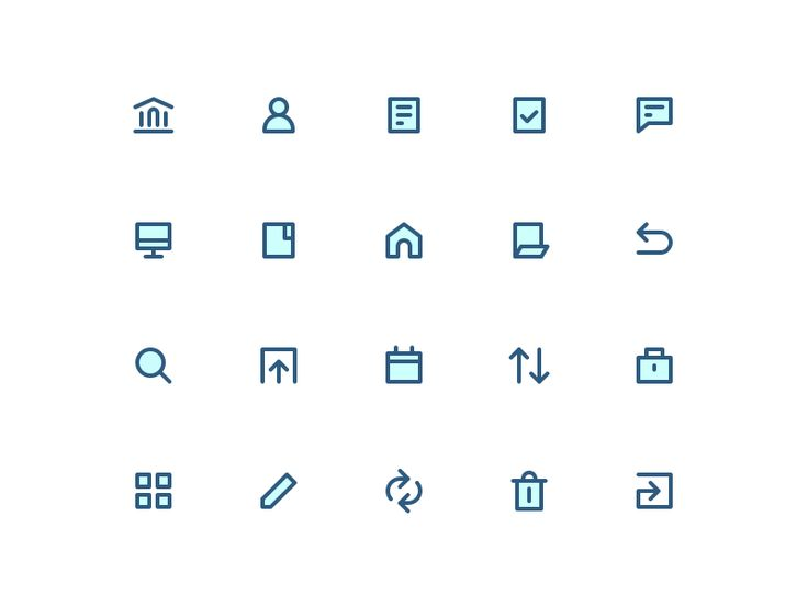 Some icons that I once designed for the banking concept app  By the way! Sticker Matryoshka is available in Sticker Mule Marketplace  Follow me on: Twitter / Instagram