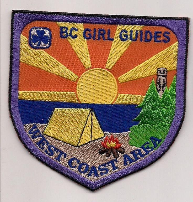 GIRL GUIDES CANADA PATCH - WEST COAST AREA, BRITISH COLUMBIA