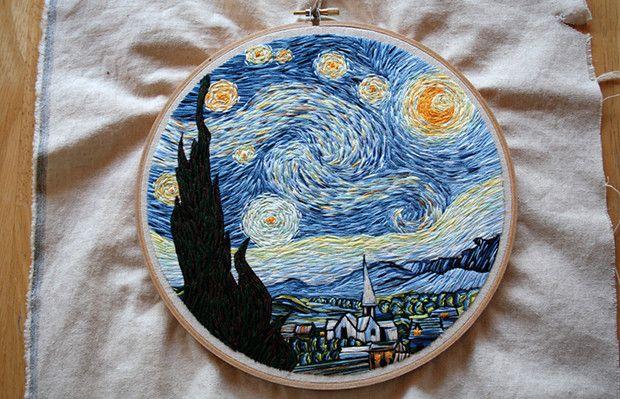 "Noite Estrelada"" de Van Gogh por Lauren Spark;"