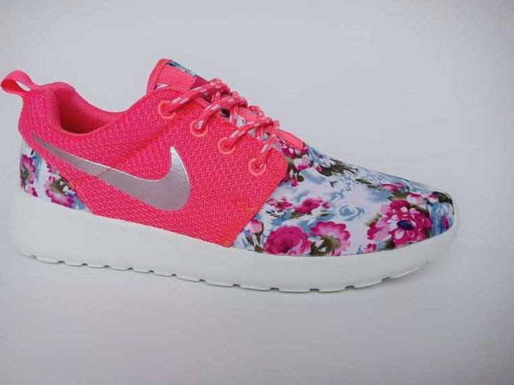 Trainers - Nike Roshe Run Floral 2015 Womens Flower Hyper Pink Metallic  Silver