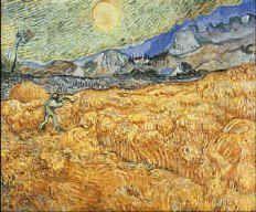 Il mietitore, Vincent Van Gogh, 1889, Museum Folkwang, Essen, olio su tela