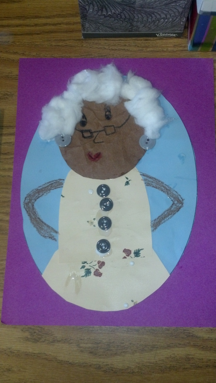 100th day of school activity, When I am 100 years old....writing and artwork activities. I like the use of cotton for the hair and real buttons.
