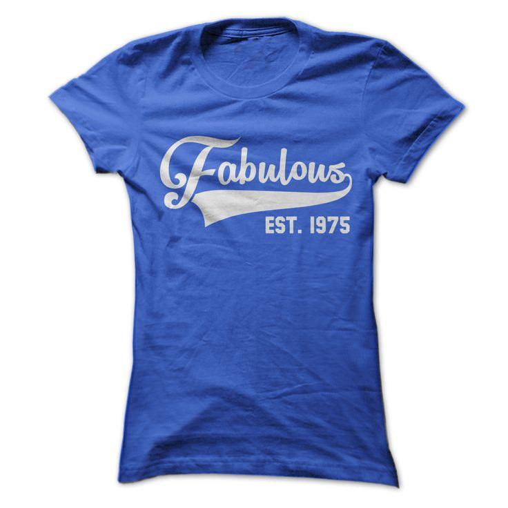 Fabulous Est 1975 T Shirt For Men And Women. Jack Jones 1975 T Shirt The 1975 Sex T Shirt Rollerball T-shirt 1975 The 1975 Sex Shirt The 1975 Merch The 1975 Band Merch The 1975 Tour Merch. #birthday #1975 http://tshirts.salalo.com/2016/03/fabulous-est-1975-t-shirt-for-men-women.html