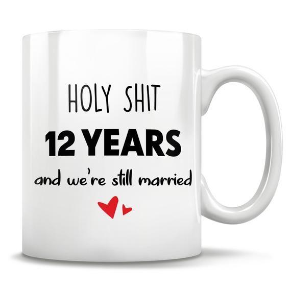 12th Anniversary 12th Anniversary Gift 12 Anniversary 12th