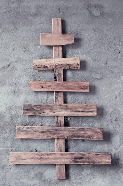 wonen met LEF - specials Kerstboom sloophout, pallethout 125x75cm
