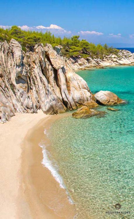 Beach in Halkidiki, Greece.
