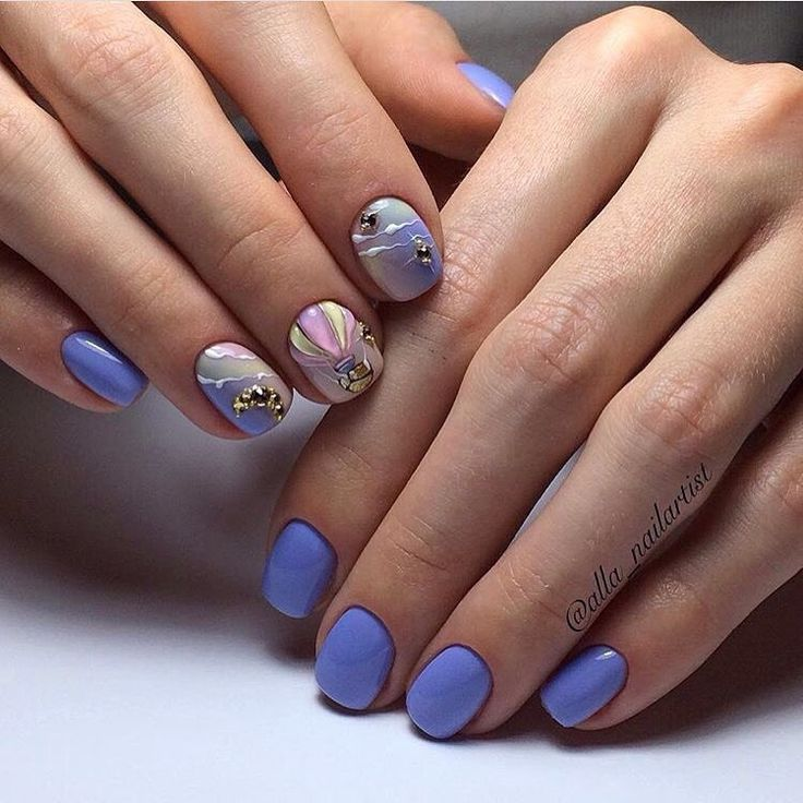 This is very beautiful design of the nails in the spring or summer times themes. Your nails will look delicate ...