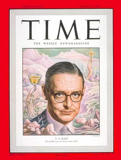 TIME Magazine Cover: T.S. Eliot -- Mar. 6, 1950: