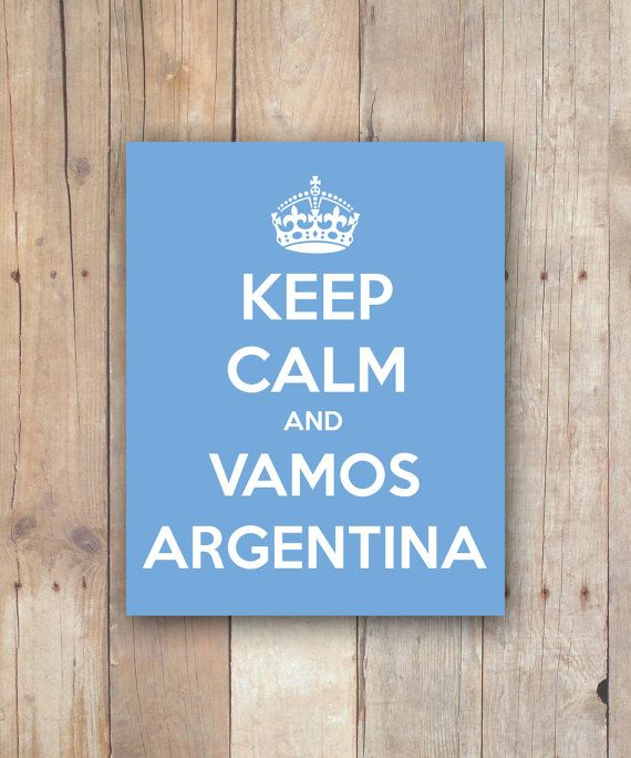 Print It Yourself Keep Calm and Vamos Argentina by PlaymakerPrints, $5.00