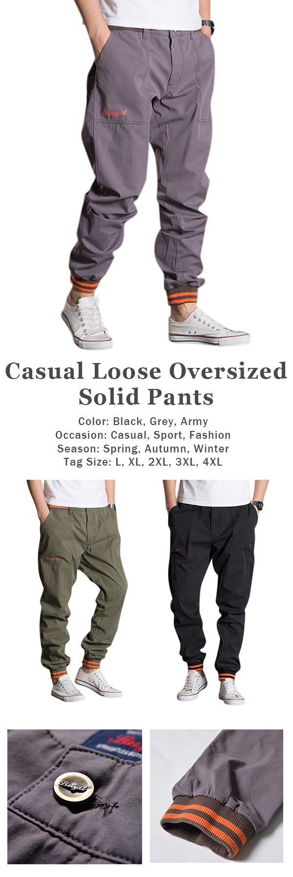 Casual Loose Sport Pants for #men #style