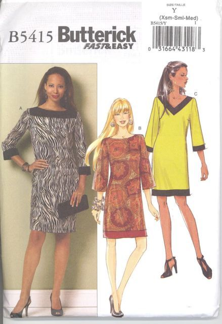 Butterick 5415 Misses'/Miss Petite Dress    Sewing Pattern