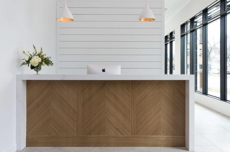 Showroom Dlux Design Co Reception Desk Design Clinic Interior Design Interior Design Portfolio