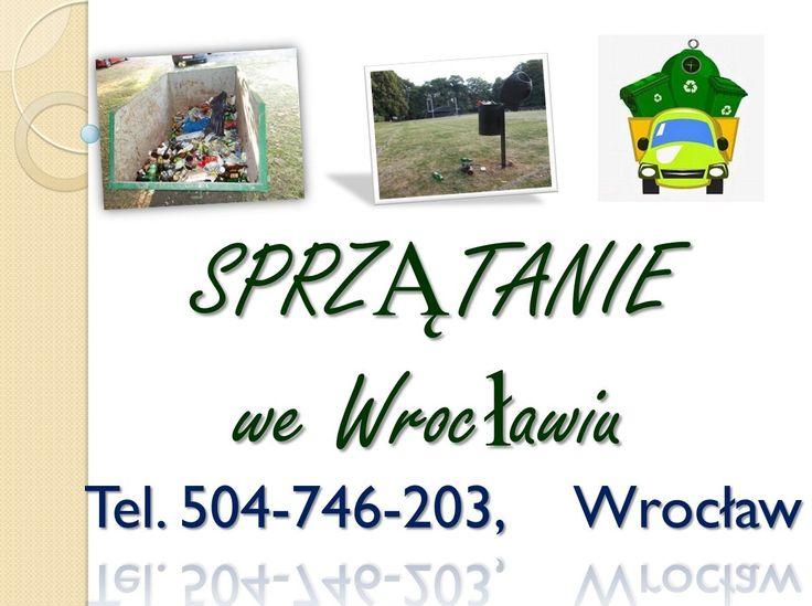 Sprzątanie terenów zewnętrznych, Wrocław, tel 504-746-203, usługi sprzątanie terenu i pomieszczeń we Wrocławiu. Sprzątanie po koncercie, festynie, imprezie. Sprzątamy po  koncertach, festynach, jarmarkach, imprezach okolicznościowych, sprzątanie trawników placów, terenów zewnętrznych, zebranie i wywóz śmieci.