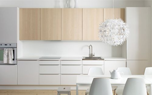 IKEA kitchen: mix of white and wood