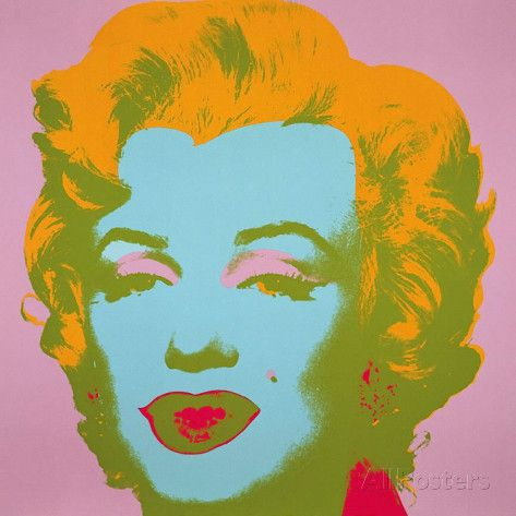 Marilyn Monroe, 1967 (pale pink) Print by Andy Warhol - AllPosters.co.uk