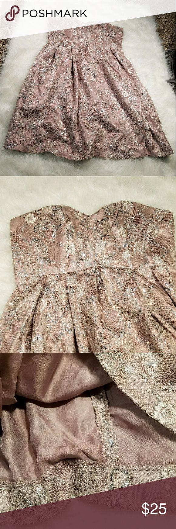 Studio millennial pink and silver mini dress Studio millennial pink and silver mini dress Studio Dresses Mini