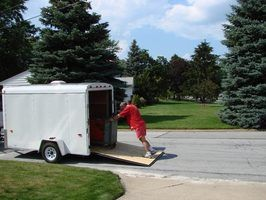 Cargo trailers can be converted into secure and functional campers.