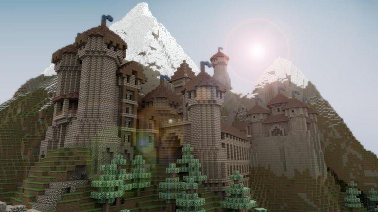 Cool Minecraft Castle Blueprints | beautiful realistic minecraft castle tephra castle and the town of