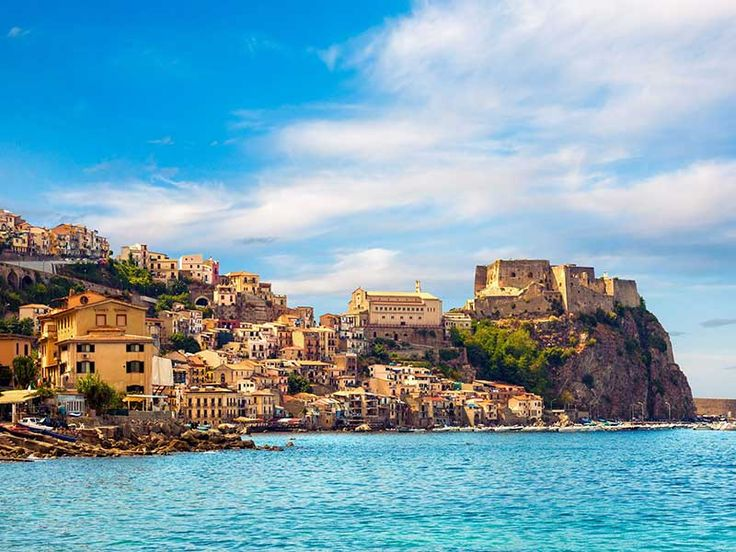 Scilla, Italy is a picturesque fishing village that lies in front of the Straight of Messina.