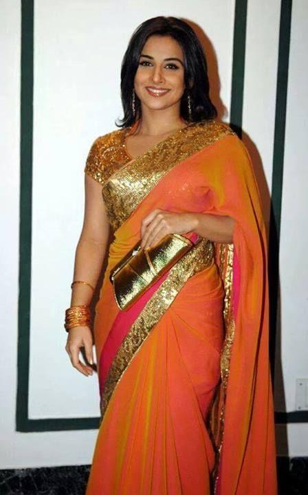 Orange pink mixed silk saree | saree... blouse ...