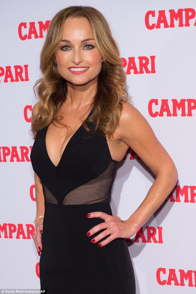 Hot mesh: Celebrity chef Giada De Laurentiis was in attendance at the Campari event...