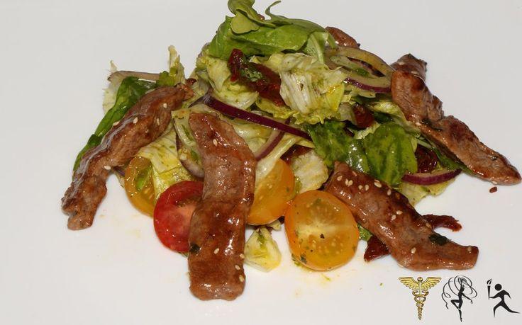 Теплый салат с замеченным перед