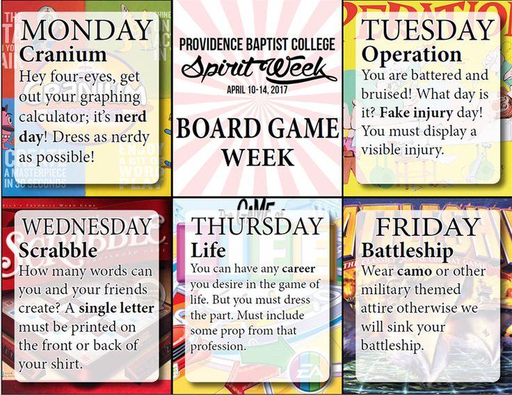 Image result for board games spirit week