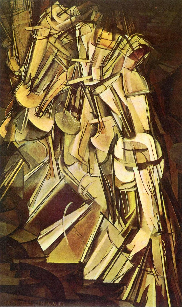 'Nude Descending A Staircase' Marcel Duchamp... in person, this painting is rippling with motion.
