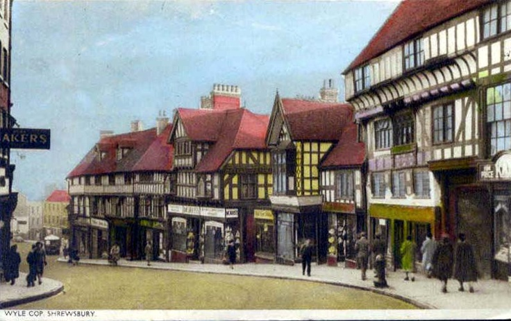 Wyle Cop, Shrewsbury Vintage Postcards of the UK