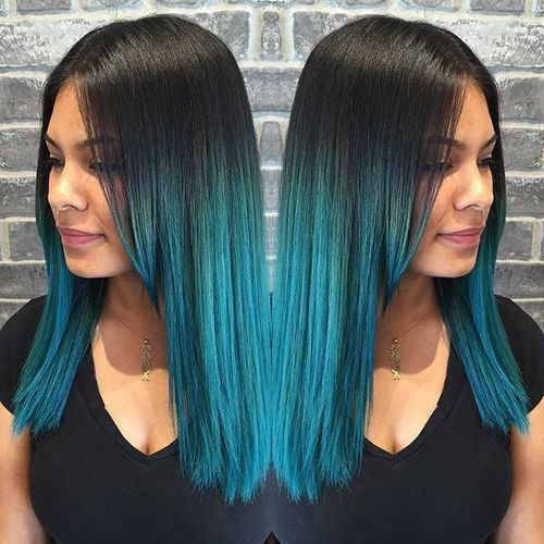 awesome 20 Fairy-Like Blau Ombre Frisuren