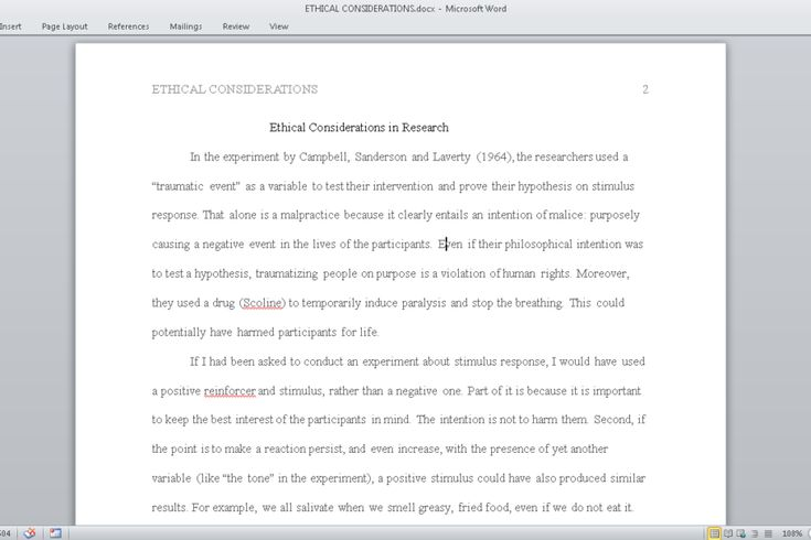 DL: http://writingsdepot.com/downloads/ethical-considerations/ In 500- words, detail the ethical standards and ethical violations you observed in research studies presented in Chapter 2. Include: 1. Explain if anything specifically could be changed to make the studies ethical for participants. 2. Would you be able to replicate this study today? Why or why not? Prepare this assignment according to the guidelines found in the APA Style Guide. An abstract is not required.