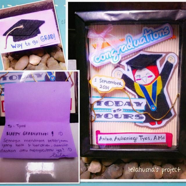 Graduation Box (using styrofoam frame handmade), Graduation Card