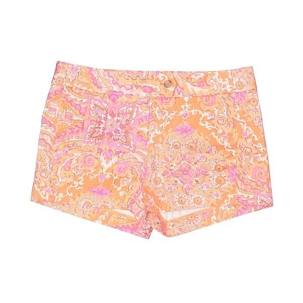 J. Crew Factory Store Khaki Shorts ($17) ❤ liked on Polyvore featuring shorts, orange, orange shorts, cotton shorts, khaki shorts and j crew shorts
