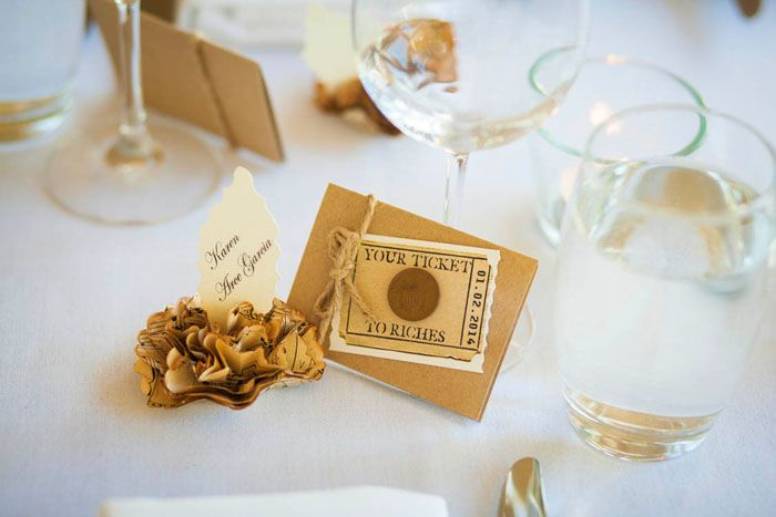 Wedding favour idea: Insert lottery tickets or 'scratchies' into a decorative card and give to your guests as wedding favour (you can even include a winnings proviso ;) ) // Featured in Karen  Enrique's Nielsen Park Wedding, Decorative lottery card holder by Vintage Twee, Photography by MM Photos #wedding #favour #idea #weddingfavor