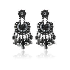 [BOUCLES D'OREILLES AICHA] #gasbijoux #bijoux #mode #fashion #jewellery #paris #marseille #sainttropez #milan #newyork #earrings #black