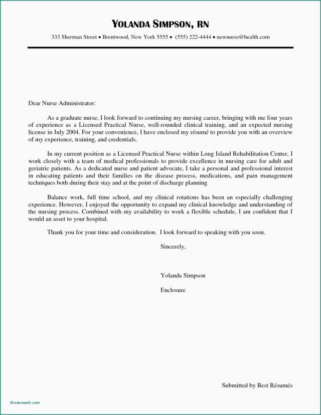 25+ Nursing Cover Letter Examples Cover Letter Examples For Job