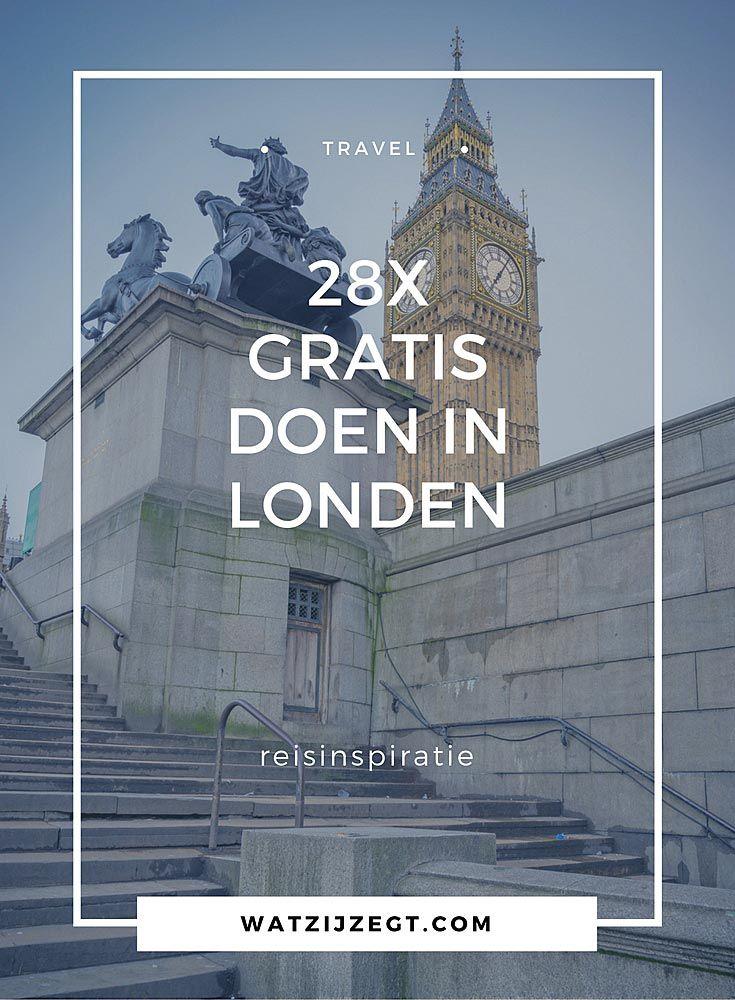 28x gratis doen in Londen // free things to do in London