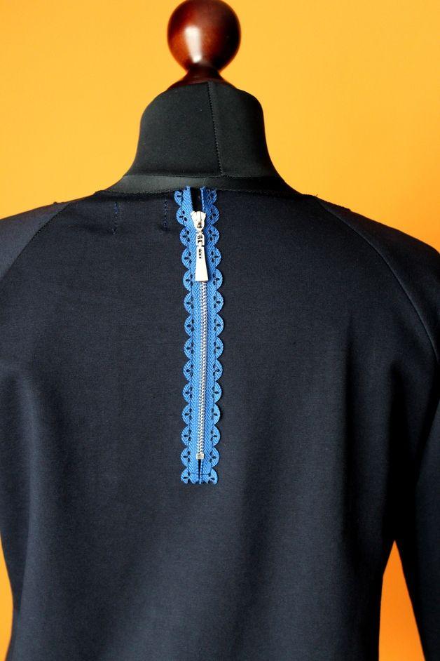 RoomStyle Bluza Dresowa Granat Zip Zamek S-L - RoomStyle - Bluzy