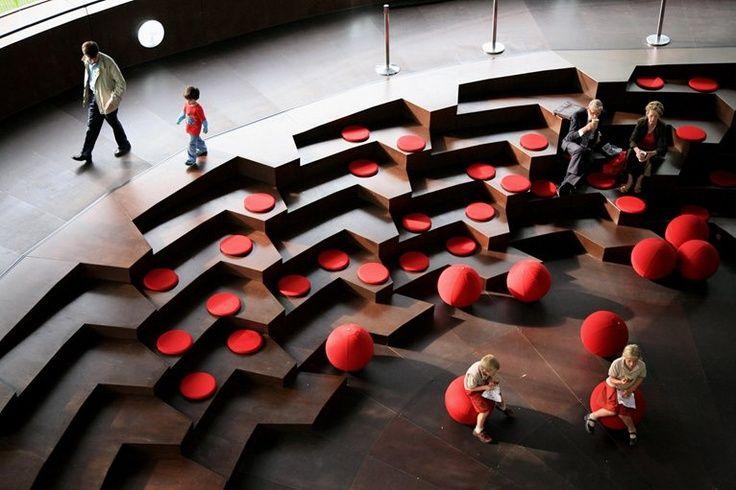 Could we build a bank of steps for seating, viewing presentations and visualisations?  Escadas com Soluções Modernas e de Segurança em Vãos de Escada e Varandas...  http://www.corrimao-inox.com  http://www.facebook.com/corrimaoinoxsp  #escadas #sobrados #pédireitoalto #Corrimãoinox #mármore #granito #decor  #arquitetura #casamoderna