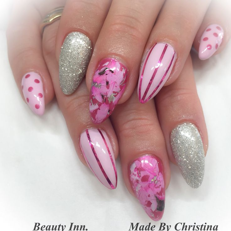 Gel , Cnd Shellac , NAIL art made by Christina