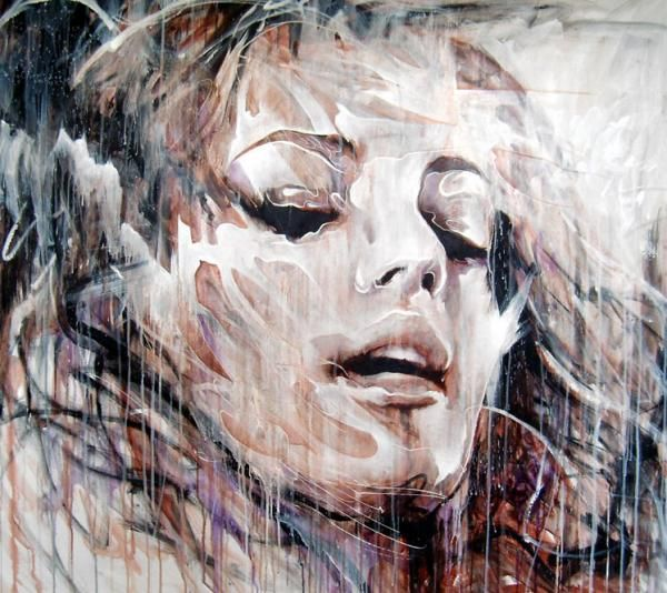 Bestleftunsaid - Abstract Portrait Paintings by Danny O'Connor | Cuded