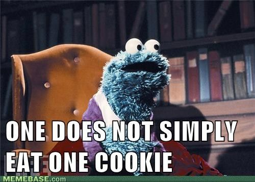 One Does not simply Eat one Cookie