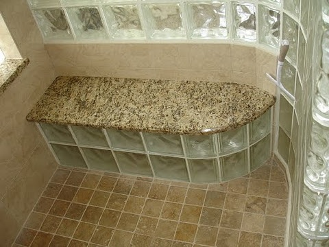 glass block - master bath, since he insists on a huge shower space.