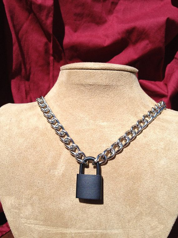 919ec0e92760b Great little lock necklace for that simple punk rock look. Great for ...