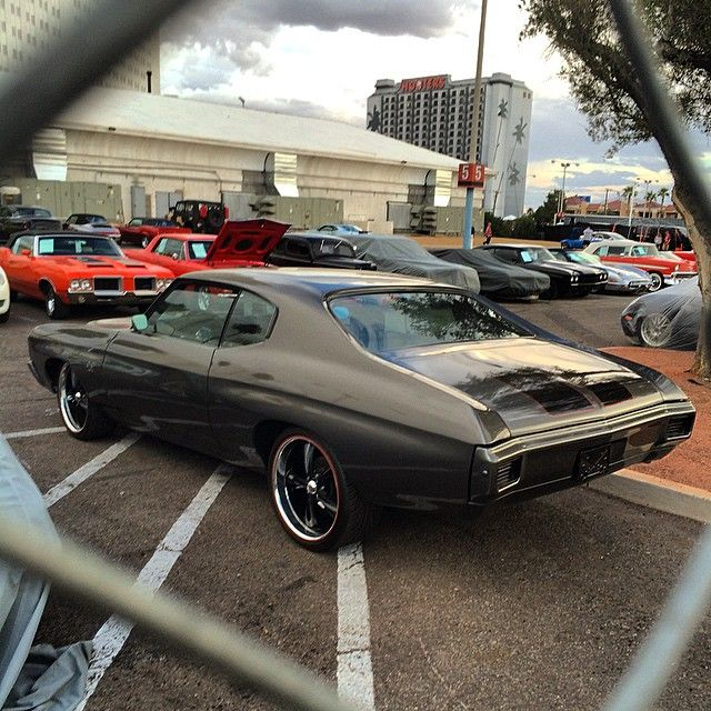 70 chevelle grey red black, painted bumpers
